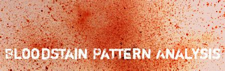 bloodstain pattern history criminalistics and crime analysis licensed for non