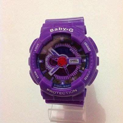 Jam Tangan Korean Topi jam tangan casio real baby g snsd purple