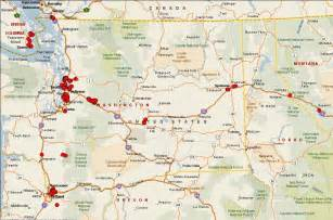 map of oregon and washington state mtn s geocaching maps
