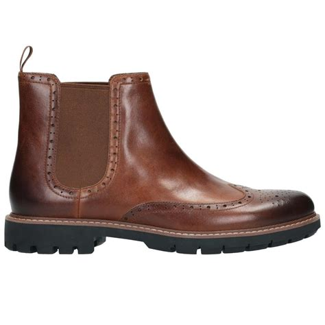 best mens chelsea boots lyst clarks batcombe top mens chelsea boots in brown for