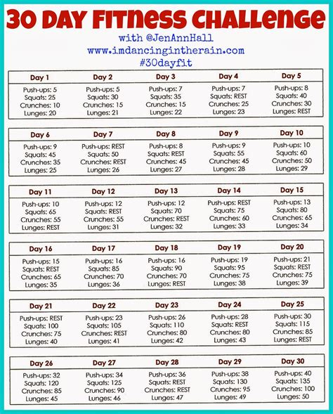 30 day fitness challenge calendar 30 day fitness challenge printable calendar calendar