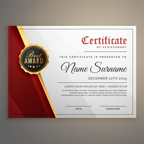 White Sertifikat white and gold certificate vector free