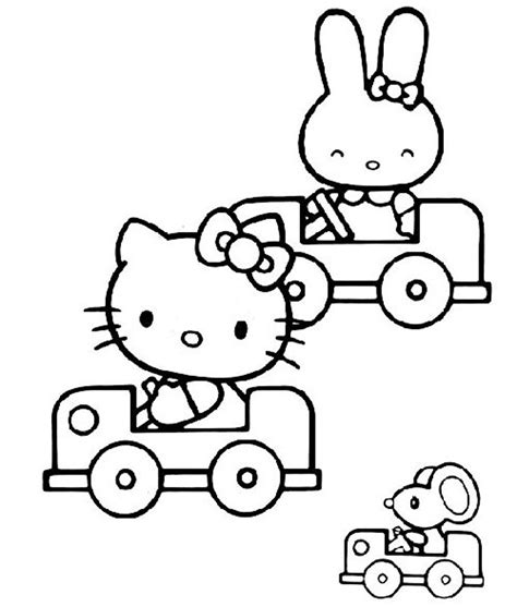 hello kitty car coloring pages lonely roses رسومات هلو كيتي hello kitty للتلوين