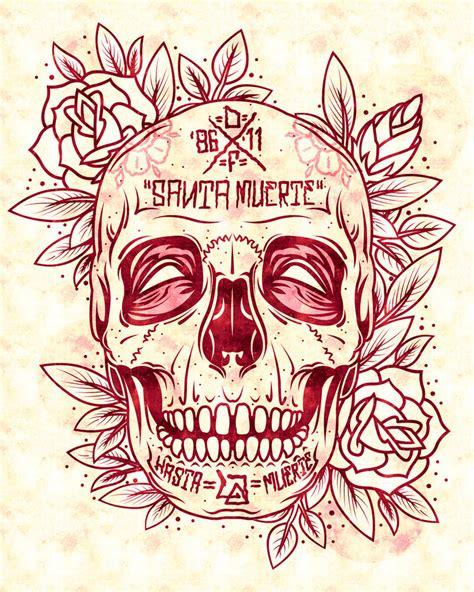 santa muerte skull by dznflavour on deviantart
