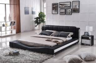 contemporary bed sets new liam black and white faux leather contemporary