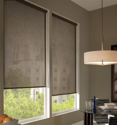 Contemporary Blinds Boutique Fusion Solar Shades Contemporary Roller Shades
