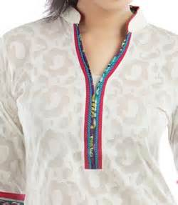 Lace work chinese collar neck gala designs style 2015 for kurtis