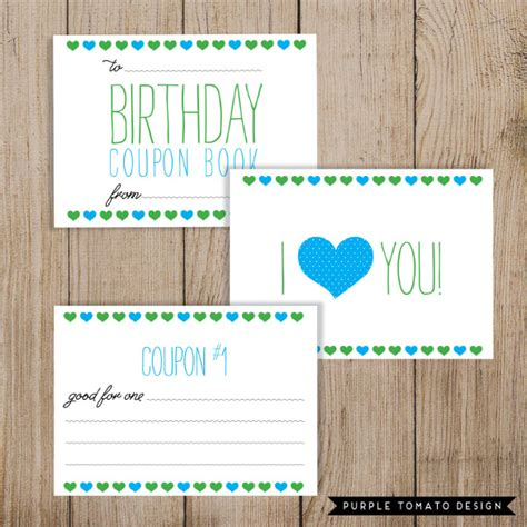 birthday coupon templates printable 45 coupon book templates free psd ai vector eps