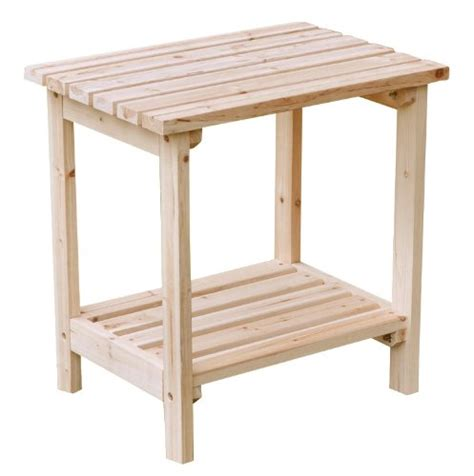 Shine Company Rectangular Patio Side Table Small Natural Patio Table Small