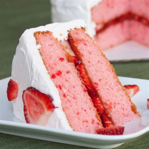 strawberry cake and cream cheese frosting recipe