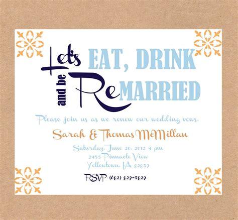 Wedding Renewal Invitation Ideas