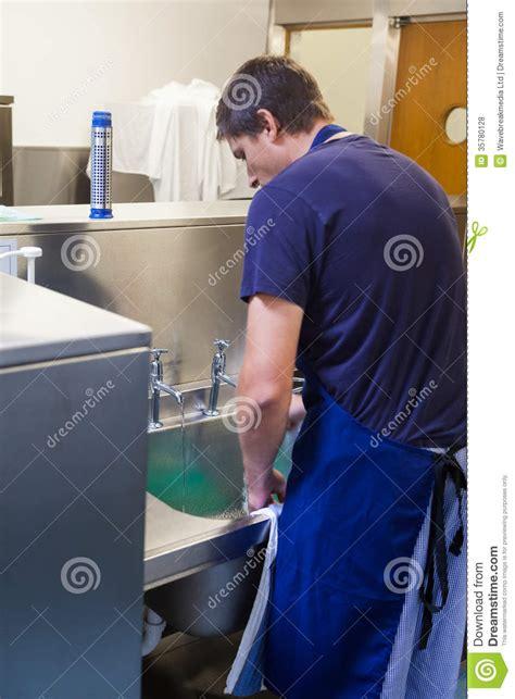 kitchen porter standing sink royalty free stock photos image 35780128