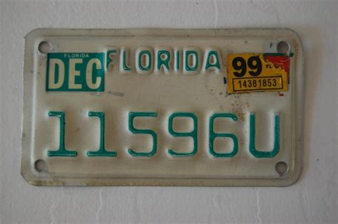 Flaparts Tasteless Titles by Florida Collectible Motorcycle License Plate Quot 11596u