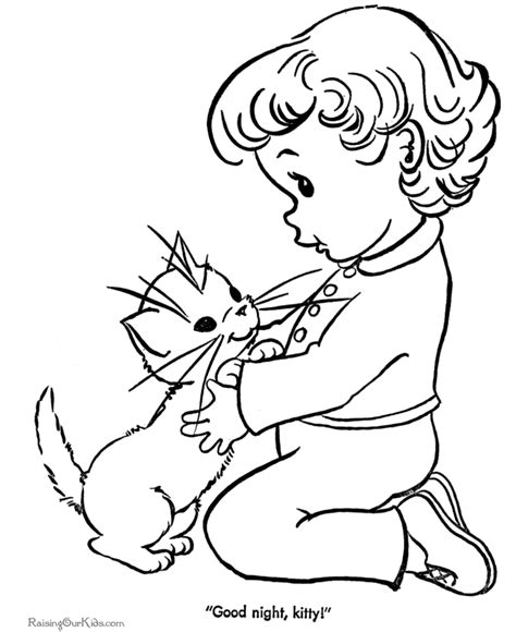 animal coloring pages kitten cute coloring sheet of kitten 031