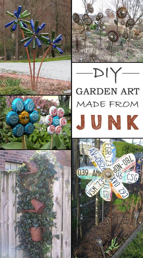 garden decoration arts 12 ideas how to create unique garden from junk