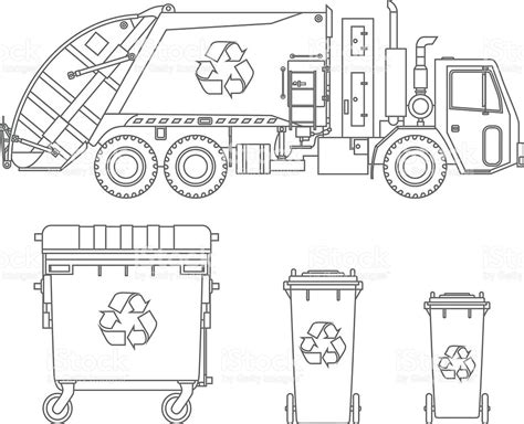 garbage truck coloring pages online coloring pages garbage truck and different types of
