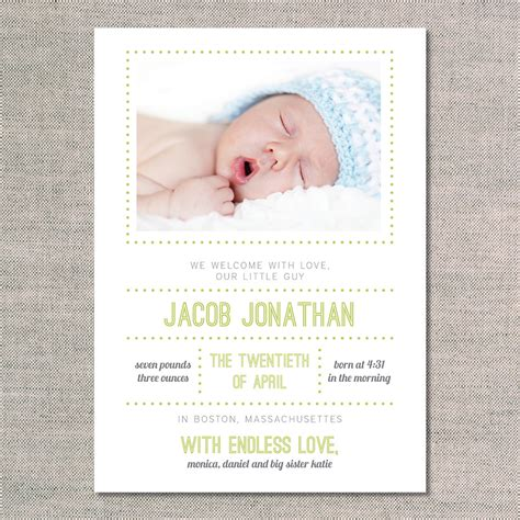 birth announcements the jacob uh oh pasghettio