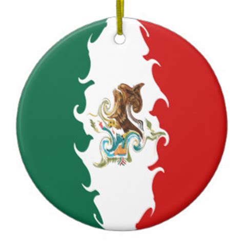 mexico gnarly flag christmas tree ornament