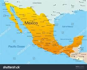 abstract vector color map mexico country stock vector