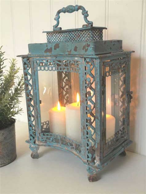 shabby chic lantern large vintage style lantern candle holder shabby chic antique country amazing grace
