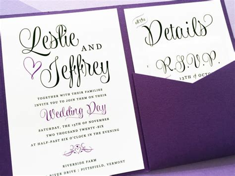 Purple Wedding Invitations by Purple Wedding Invitation Lavender Wedding Invitation