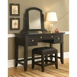 home styles bedford vanity table mirror and bench black