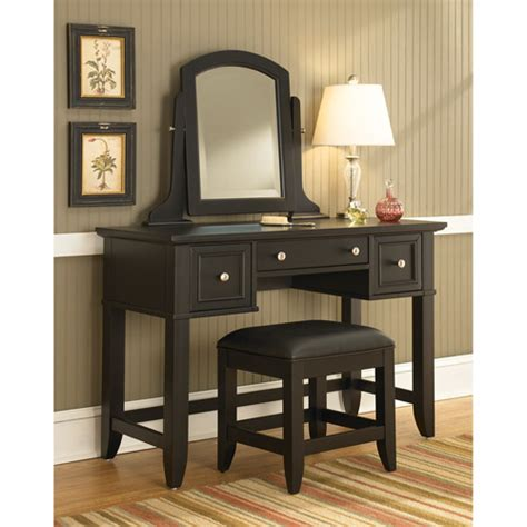 home styles vanity table home styles bedford vanity table mirror and bench black