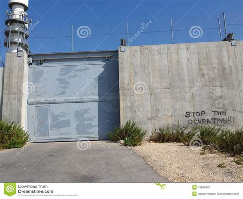 the wall and the gate israel palestine and the battle for human rights books wall of palestinian occupation with gate stock photo