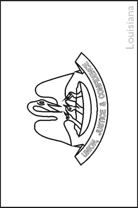 louisiana state flag coloring pages usa for kids
