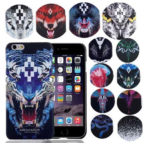 Marcelo Burlon 2 Wolf Iphone 6 7 5 Xiaomi Redmi Note F1s Oppo S6 Vivo new for iphone 6s marcelo burlon cover tiger fox pc
