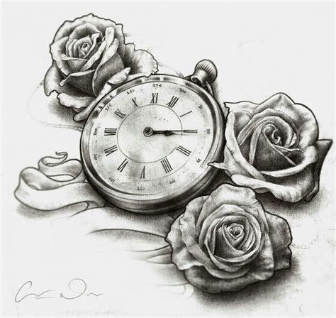 tattoo flash watch roses and pocket watch tattoo tattoo flash pinterest