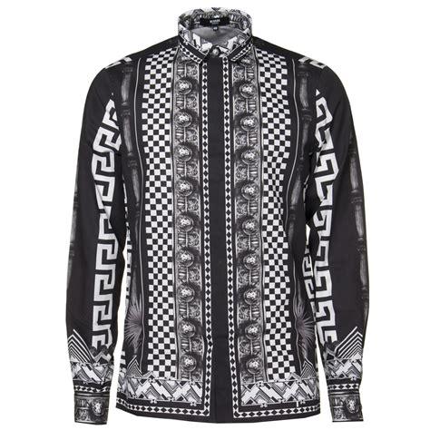 versus versace border pattern t shirt versus versace shirts greek pattern shirt in black