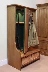 This coat rack conceals a steel gun cabinet inside source http