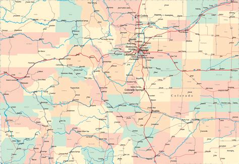 detailed map of colorado usa colorado co travel around usa