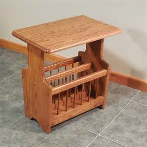 solid oak paddle country style magazine rack end table 14 x 22 the oak furniture shop