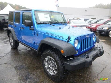 Hydro Blue Jeep Wrangler Unlimited 2015 Hydro Blue Pearl Jeep Wrangler Unlimited Rubicon 4x4