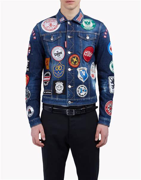 Patch Denim dsquared2 patch denim jacket denim outerwear