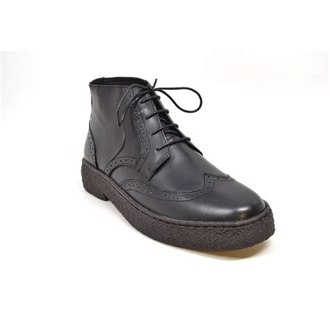 collection s wingtip limited all black leather