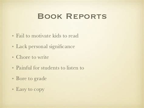 book reports to copy alternatives to traditional book reports