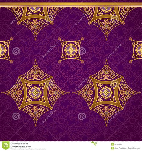vintage pattern place vector ornate seamless border in eastern style stock