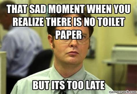 No Toilet Paper Meme - that sad moment when you realize there is no toilet paper