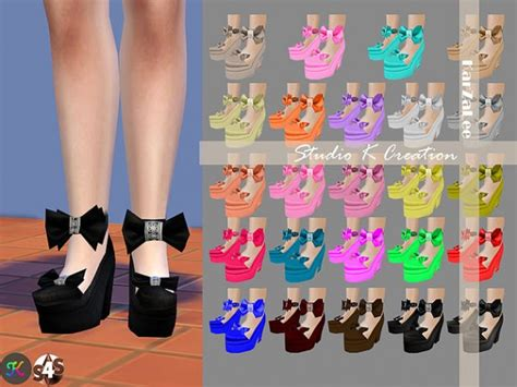 bow set at studio k creation 187 sims 4 updates studio k creation bow shoes sims 4 downloads