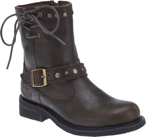 womens brown motorcycle boots harley davidson s relaina 6 5 quot motorcycle boots