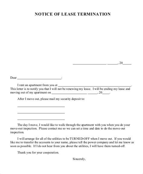 rent contract cancellation letter cancellation letter template 10 free word pdf