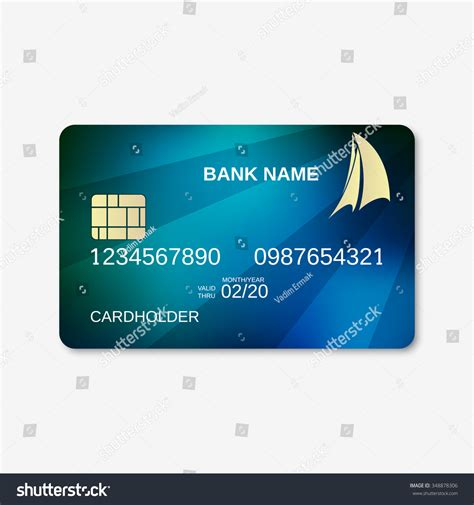 Credit Card Design Template Vector Bank Card Credit Card Design Template Stock Vector 348878306