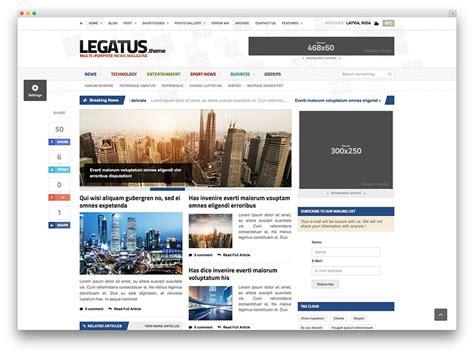 wordpress theme flexible layout top 40 news magazine wordpress themes 2017 colorlib