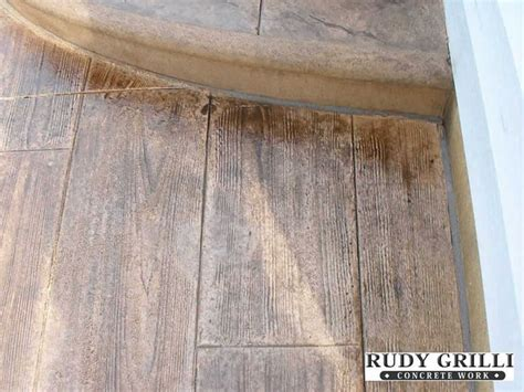 wood pattern sted concrete wood look sted stained concrete home deco pinterest