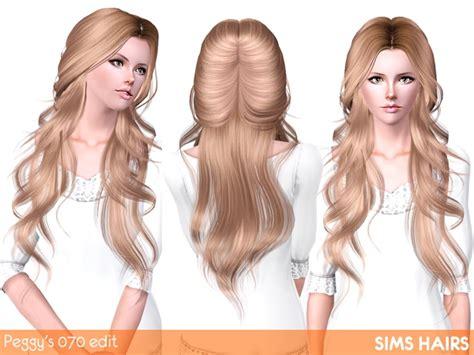 the sims 3 cc hair peggy s 070 hairstyle retextured by sims hairs sims cc