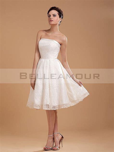 Robe Bustier Dentelle Blanche - robe de mari 233 e courte simple a ligne bustier dentelle blanche
