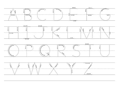 large printable traceable letters printable letter to trace activity shelter alphabet